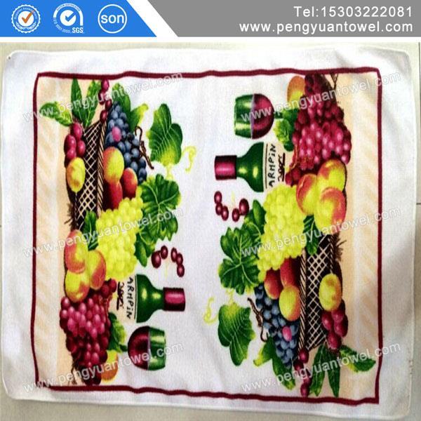 2014 new product top quality hot sale 100 cotton custom printed tea towel kitchen towel