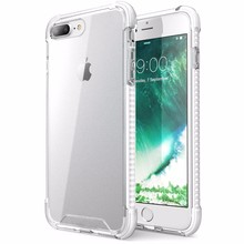 Air cushion Shockproof CasesTransparent/Clear hard back PC+ TPU Frame cover for iphone 7 plus
