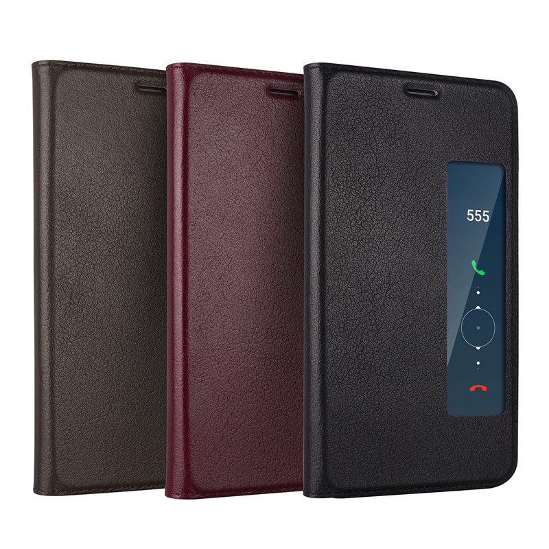 For Huawei Mate 10 Pro Genuine leather Case Luxucy Flip PU Case For Huawei Mate 10 Business Window Leather Case