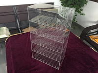 5-tier clear acrylic e-liquid bottle display case with lockable door
