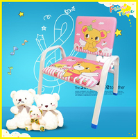 cartoon portable practical colored salon chairs for kids