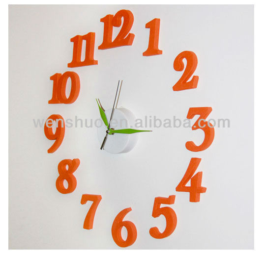 DIY Design Art Unique Decorative Plastic Wall Clock