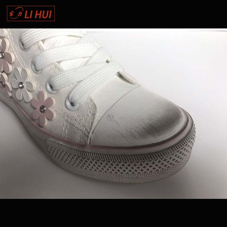 China campus style high quality custom woman canvas dirty shoes