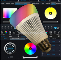 adjust 16 millions color's saturation Bluetooth 4.0 RGBW E27 LED Lamp Light Bulb for IOS Android app combined smart Home