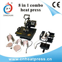 Manual 8 in 1 heat press sublimation printing machine