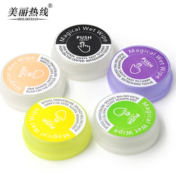 OEM Eco-friendly disposable magic push clean wet wipes for Restaurant Cafe office