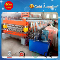 Roof Arc Cut Glazed And Wave Double Roll Forming Machine