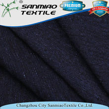 Good quality hot-sale poly slub single jersey denim fabric SBWHCP-165