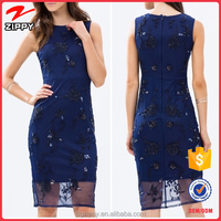 Hot Selling Fashion Beaded Pencil Designer Women Dress
