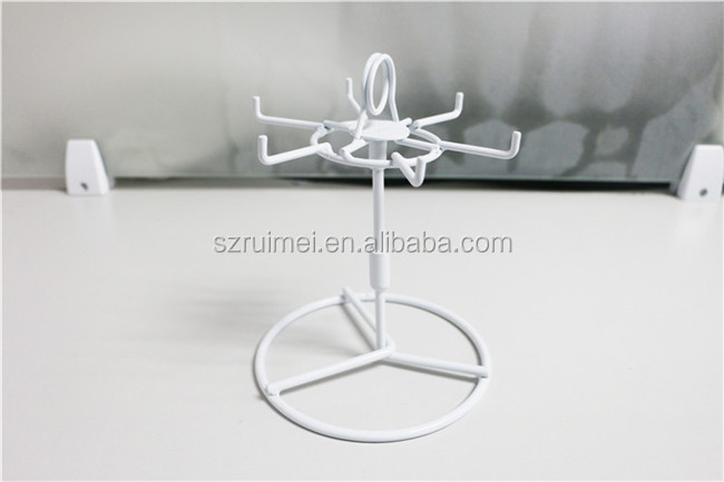 Customized Jewelry/Ornaments/ Key Chains Metal Small Counter Display Stands