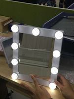 Land Lighting Dimmable LED bulbs Wall Mount Hollywood makeup mirror Broadway mirror with 9 LED bulbs