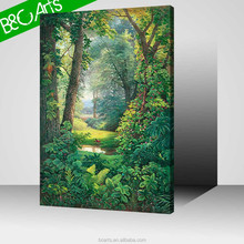 High quality famous scenery art painting custom canvas print for home decoration