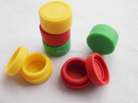 FDA swirling silicone jars dab wax container,butane hash oil silicone container,silicone customized bho oil container