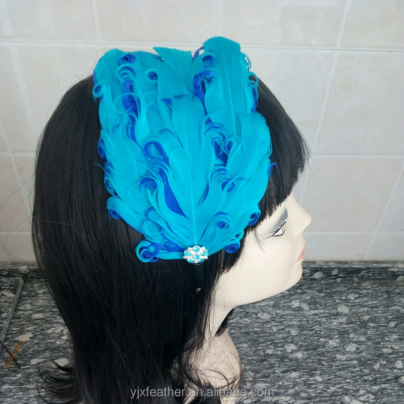 wholesale beautiful feather pads hair accessory for kids decoration