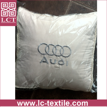 supply poly bag packed top quality audi brand embroidery super comfortable car head rest pillow for 4S shop promotion(LCTP0190)
