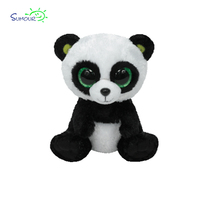 Hot selling custom cute 15cm pop eye animal TY series plush big eyes panda toy