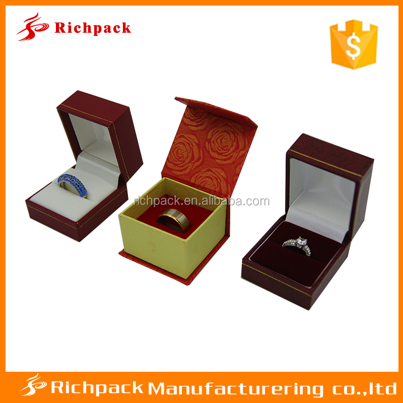 hot sale red box ring jewelri hinge for jewelry box
