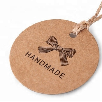 Customized gift jewelry handmade brown business kraft paper card