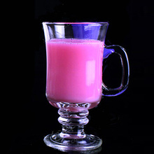 Drinking glass cup wine Ice cream glass cup with stem and handle pedestal