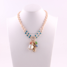 N74344I01 STYLE PLUS color beads big multiple stones pendent necklace for fashion women