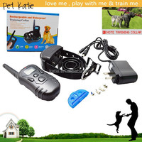 Pet Training Waterproof Dog Shock Collar with Remote LCD Display