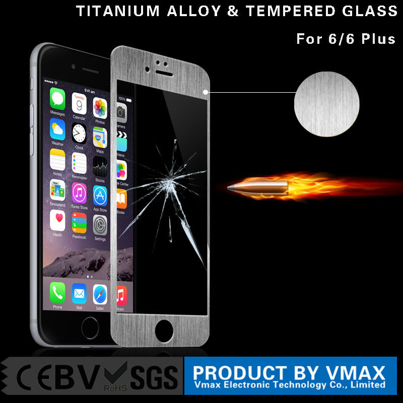Wholesale mobile phone screen guard for apple iphone 6 6plus full cover tempered glass screen protector