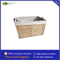 handmade storage basket made by rush straw with handles