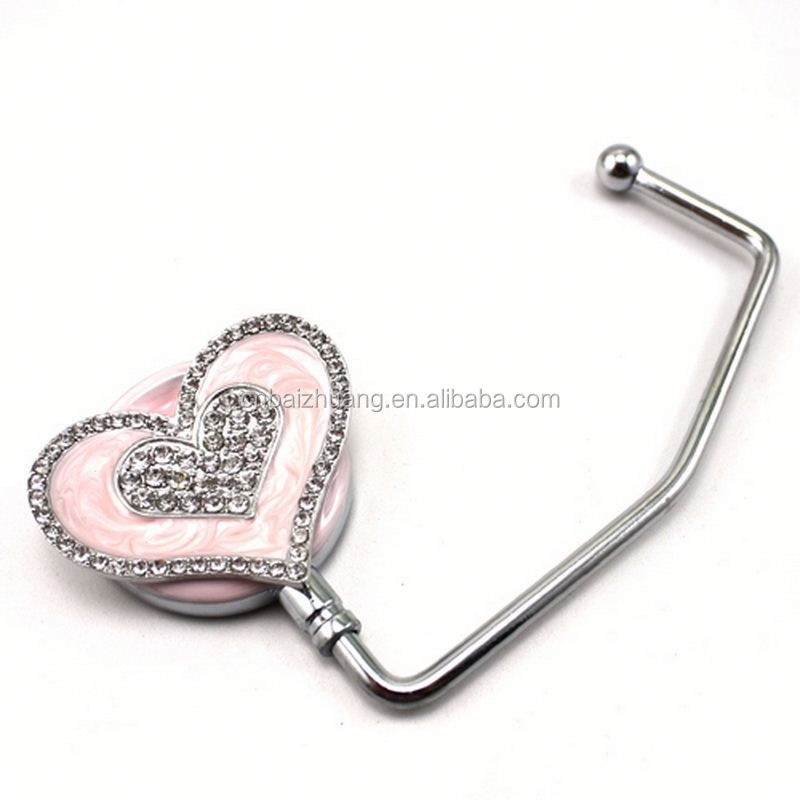 brass plated gold sport medal hanger crystal purse hangers bag hanger for cute girl