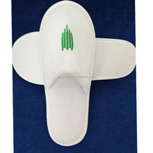 white color close toe open toe terry cloth towelling bath hotel slippers