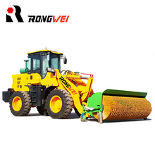 High power efficient snow loader mini wheel loader with snow plow/blower for sale