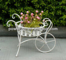 Best selling 2013 new vintige luxury classical bicycle flower pot stand and home garden wedding christmas decoration