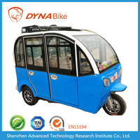 China Factory 60V 40AH Lead Acid Operated Enclosed Passengers Three Wheel Electric Vehicle