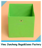 Facebook hot selling plain color nonwoven foldable storage box bin with die cut eyelet hole 32*32*32cm