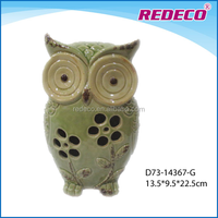 Decorative ceramic garden owl ornament wholesale