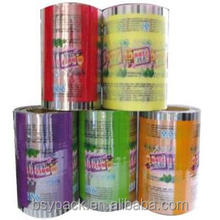coffee packaging film roll / laminated roll film for food / aluminium laminated plastic film stock