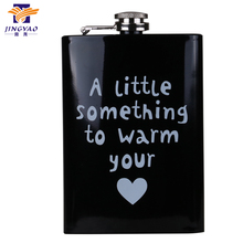 Logo customized painting stainless steel hip flask