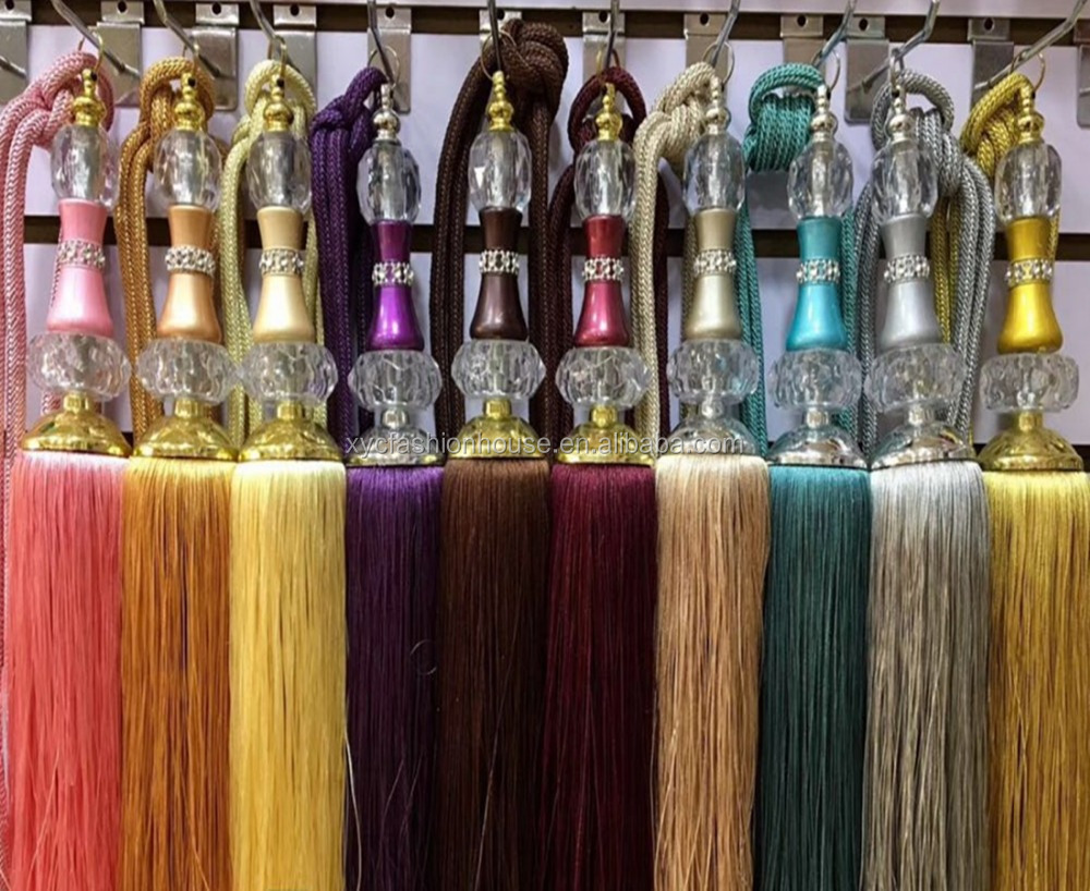 Home Textile, Curtain accessories stylish high-end curtains decorated fringed curtains tassel