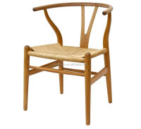 hans wegner solid wood design dining wishbone Y chair