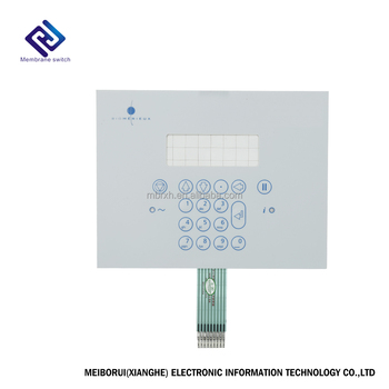 Embossing buttons fpc circuit membrane switch with glossy surface and high level waterproof