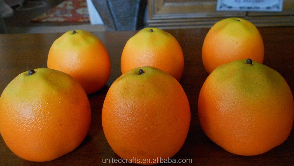 Realistic Sized Fake Plastic Food/ Lot of 6 Oranges