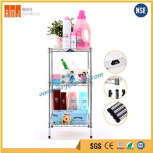 Wholesales mini size multi-function storage bathroom steel wire shelving