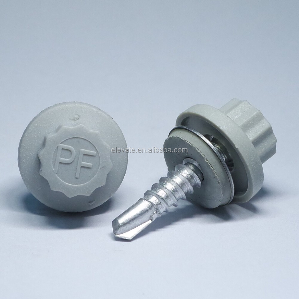 12 Teeth Nylon head Cap Indented Hex Washer Head Bonded Washer BSD Thread No.3 Point Self Drilling Screw