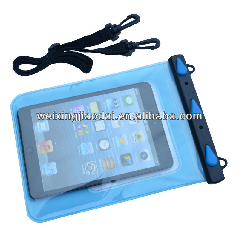 2013 new arriving waterpoof bag for ipad2 for ipad3 with lanyard water sports using