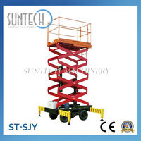 SUNTECH Alibaba China Scissor Lift Car with Electric Motor