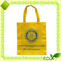 recycled reusable custome OEM design cheap printing yellow non-woven pp retail promotional bag