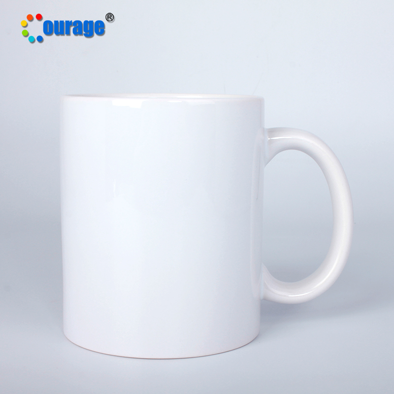 Top grade COURAGE sublimation plain white bulk ceramic coffee Mug