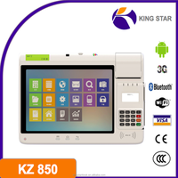 POS Tablet with printer NFC Magcard Smart Card /GPS /3G /2D barcode /WiFi /Bluetooth/Android OS/EMV