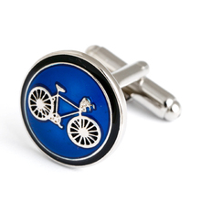 Fashion professional speeder bike blue cufflinks