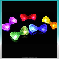 cute party decoration flshing LED party bowknot buckle