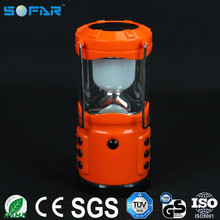 5W power plastic light with mobile phone charger led solar power camping lantern OEM